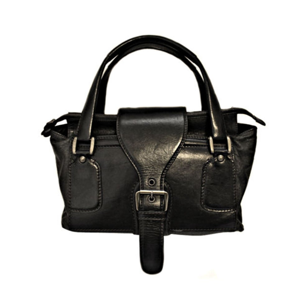 SALE** MARTIN MARGIELA black leather satchel bag WAS $450 NOW $225 ...