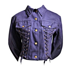 JEAN PAUL GAULTIER purple canvas corset jacket