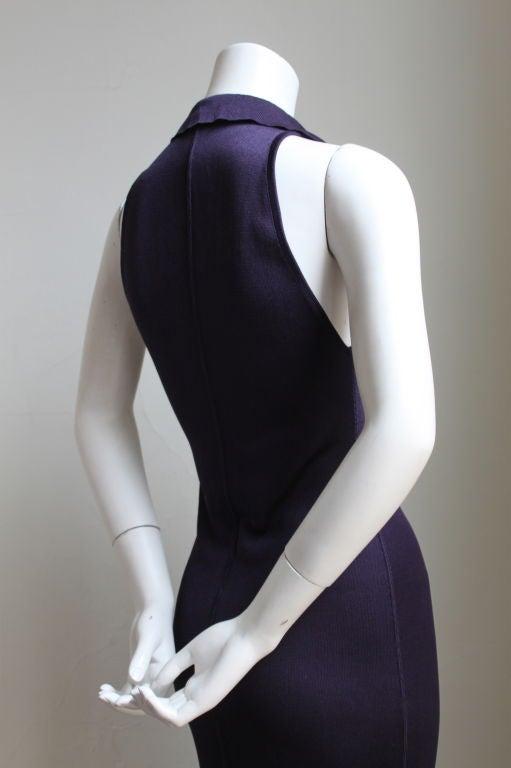 1980's AZZEDINE ALAIA purple dress with collar image 2