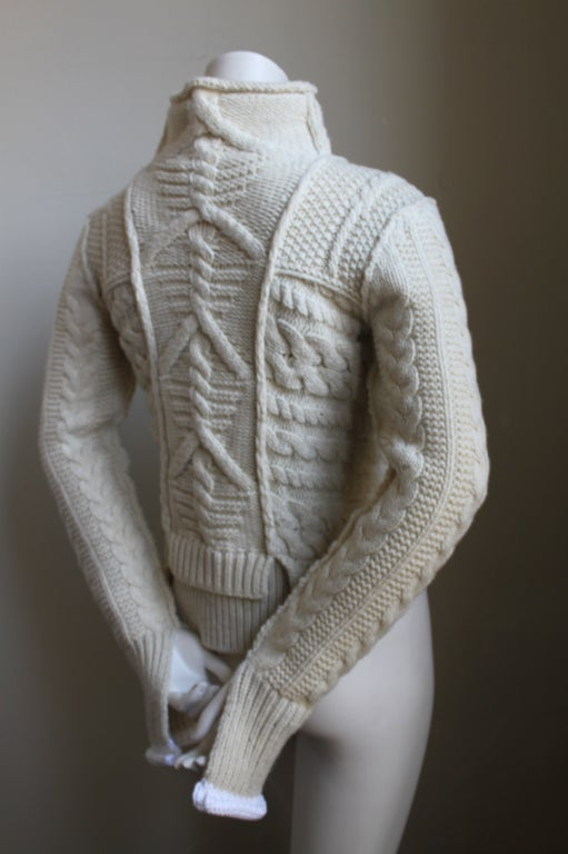Unworn Celine Cable Knit Sweater At 1stdibs