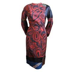 unworn DRIES VAN NOTEN black silk patchwork dress