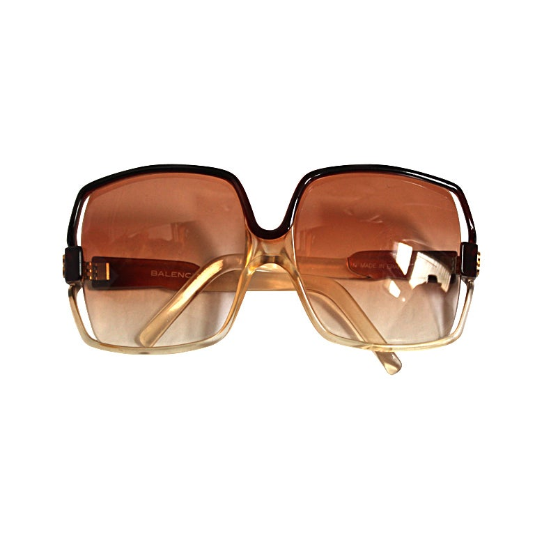 dfa81d473f13a 1970 s oversized BALENCIAGA sunglasses at 1stdibs
