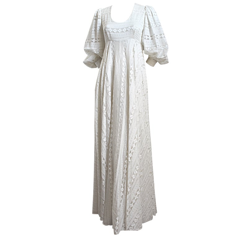 THEA PORTER COUTURE ivory lace gown 1