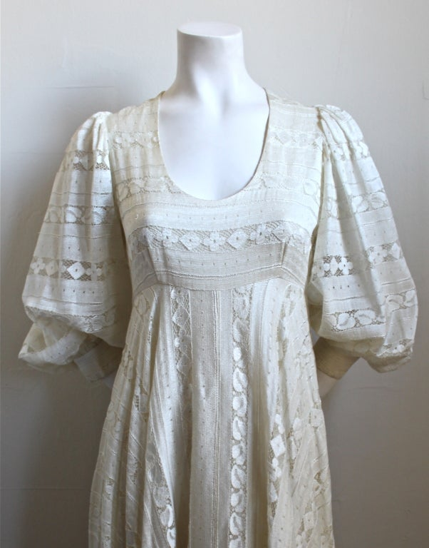 THEA PORTER COUTURE ivory lace gown 2