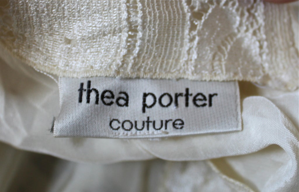 THEA PORTER COUTURE ivory lace gown 3
