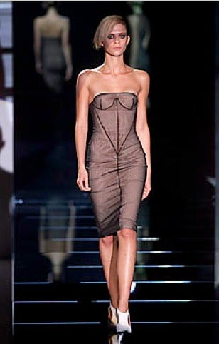 Tom Ford for GUCCI spring 2001 mesh bustier dress 2