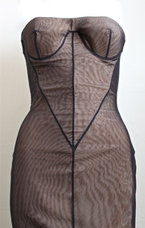 Tom Ford for GUCCI spring 2001 mesh bustier dress 3
