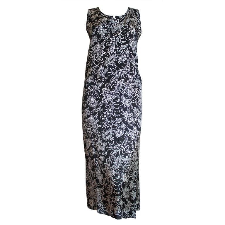 sale comme des garcons 39 robe de chambre 39 floral dress was 350 now 150 at 1stdibs. Black Bedroom Furniture Sets. Home Design Ideas