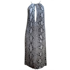 TOM FORD for GUCCI python print jersey runway dress - 2000