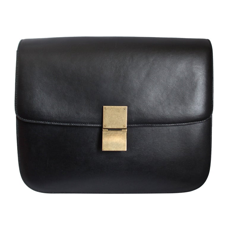 celine sale bags - new CELINE large classic box leather bag with convertible strap at ...
