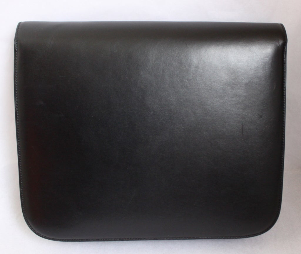 new CELINE large classic box leather bag with convertible strap 2