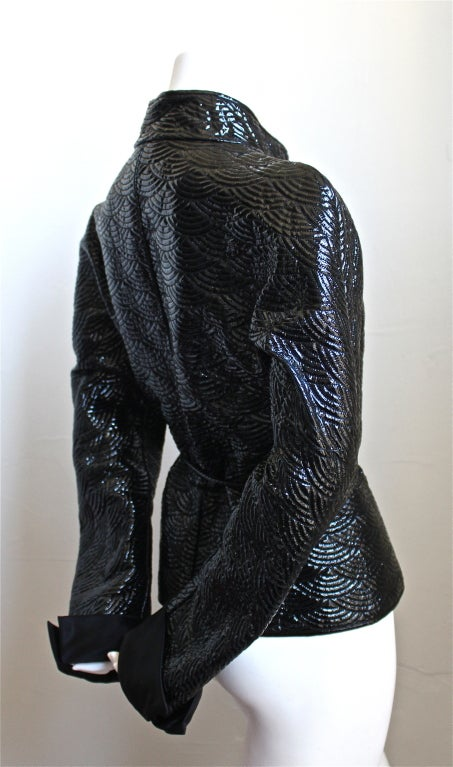 2004 TOM FORD/YVES SAINT LAURENT trapunto quilted leather jacket 2