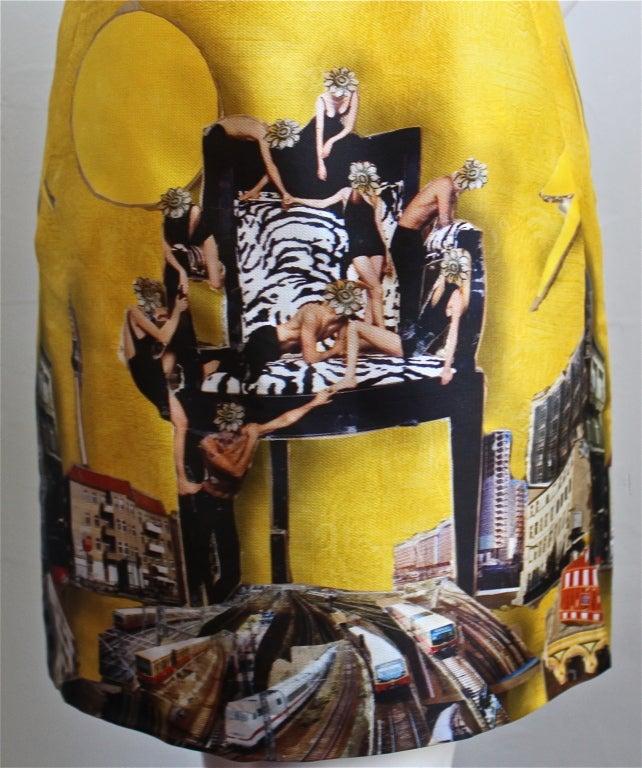 rare 2008 VERSACE silk gazar dress - artwork by Tim Roeloffs SALE was $1650 2