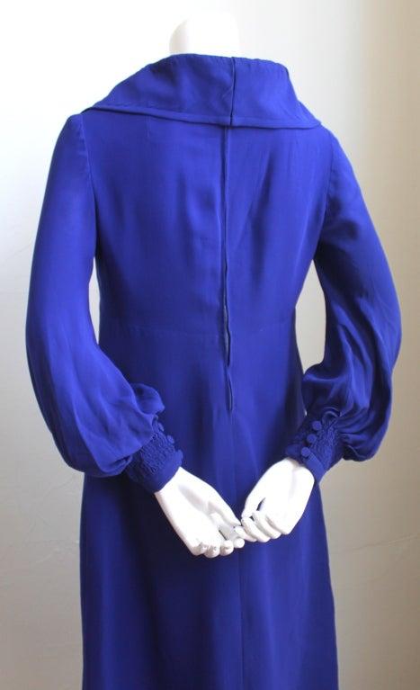 1960's PIERRE BALMAIN haute couture silk dress 2