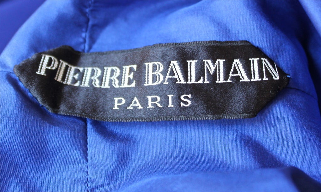 1960's PIERRE BALMAIN haute couture silk dress 3