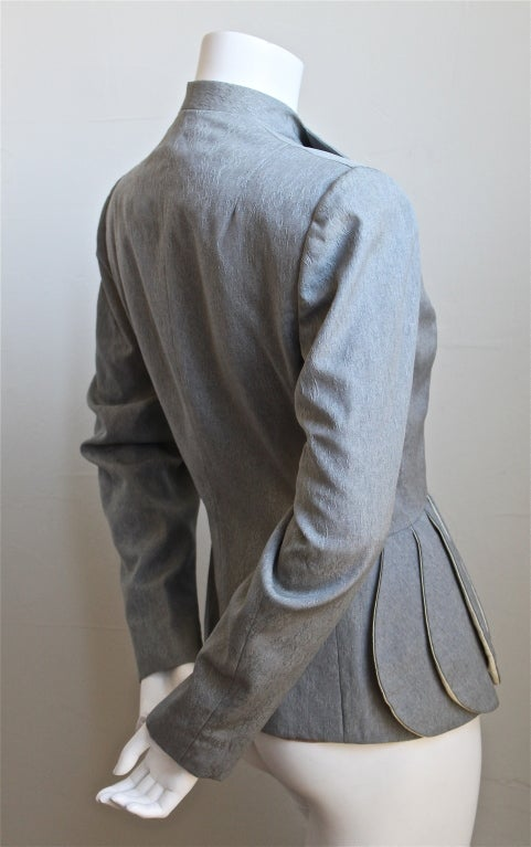 *SALE* 40's LILLI ANN grey brocade jacket with peplum WAS $295 NOW $175 image 2