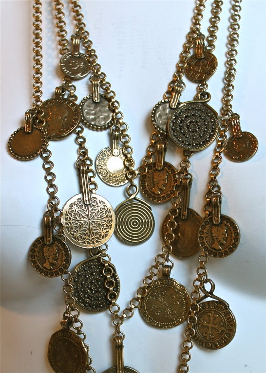 YVES SAINT LAURENT layered coin necklace image 3