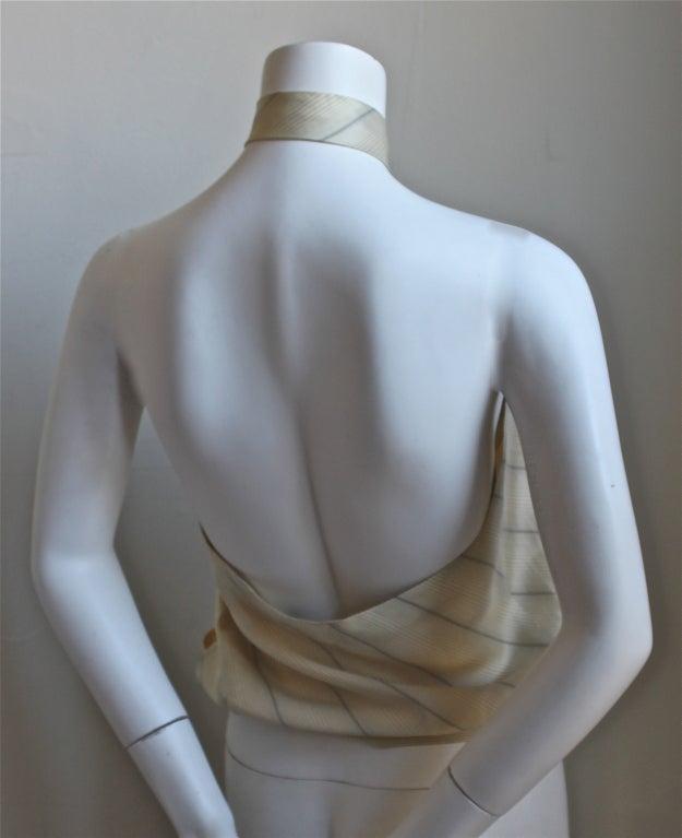 very rare 1990's ALEXANDER MCQUEEN silk 'tie' top image 2