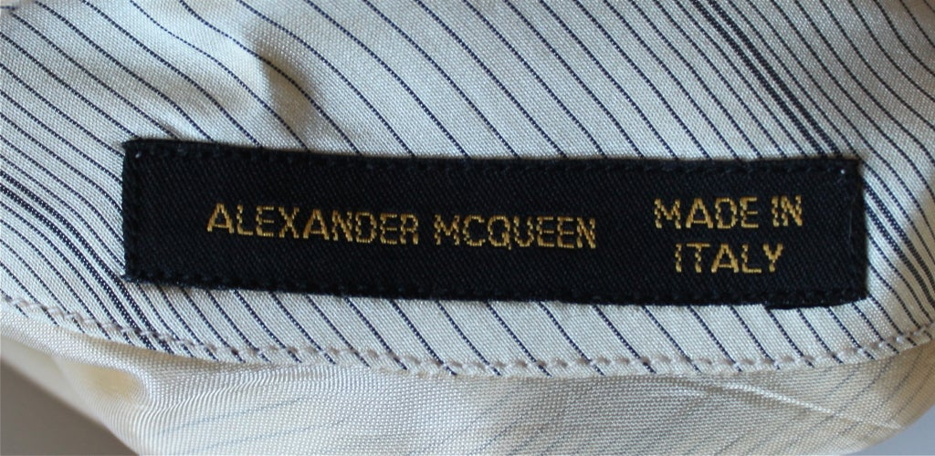 very rare 1990's ALEXANDER MCQUEEN silk 'tie' top image 3
