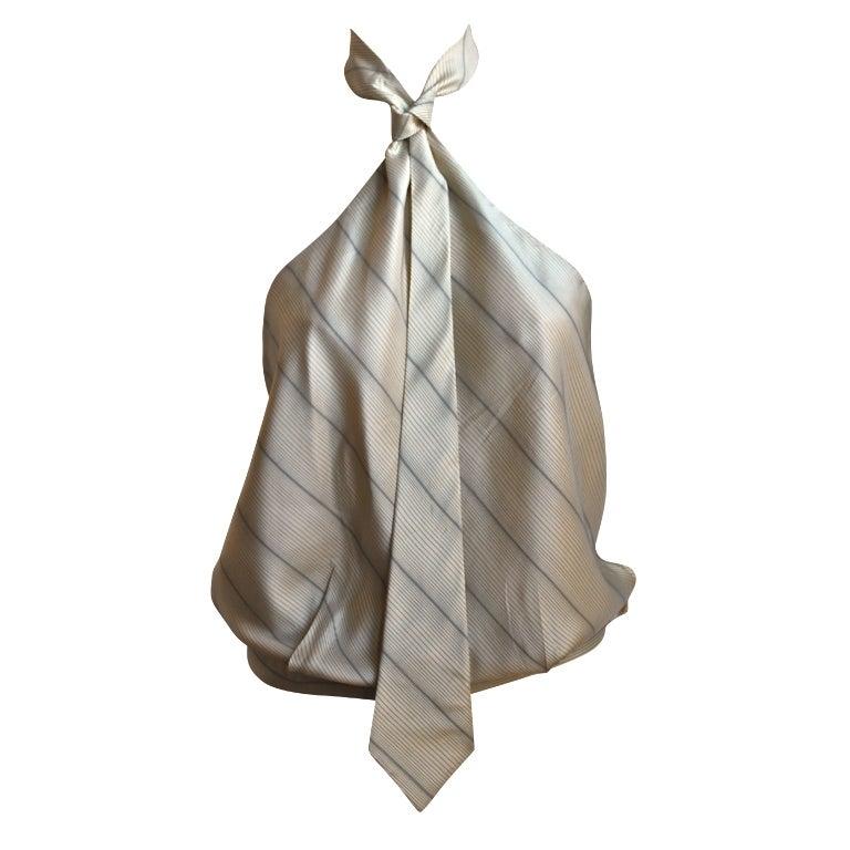 very rare 1990's ALEXANDER MCQUEEN silk 'tie' top