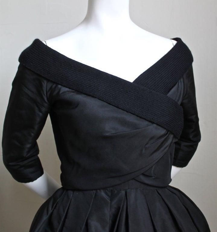 1959/1960 CHRISTIAN DIOR haute couture black silk bubble dress 2