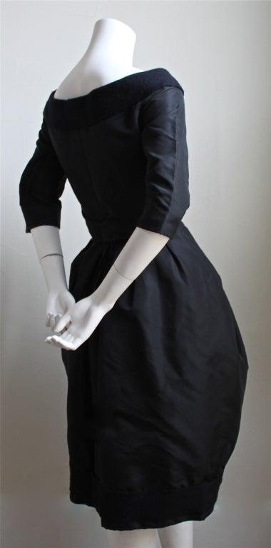 1959/1960 CHRISTIAN DIOR haute couture black silk bubble dress 4