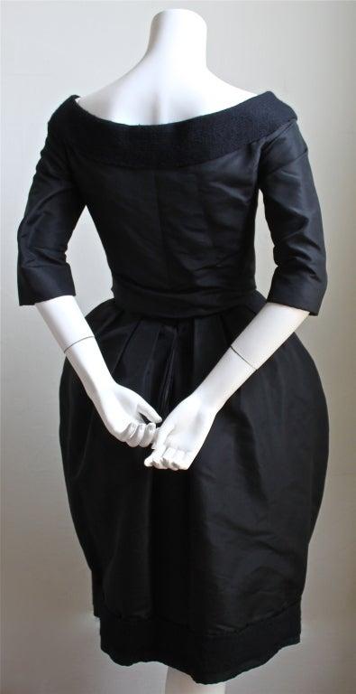 1959/1960 CHRISTIAN DIOR haute couture black silk bubble dress 5