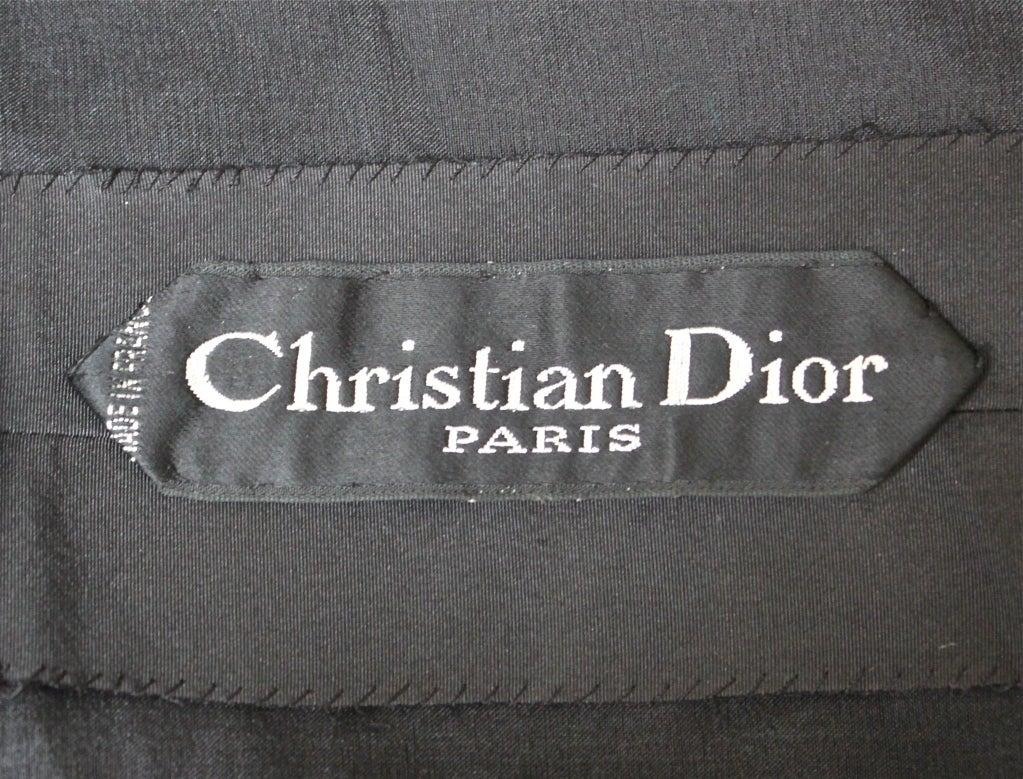 1959/1960 CHRISTIAN DIOR haute couture black silk bubble dress 8