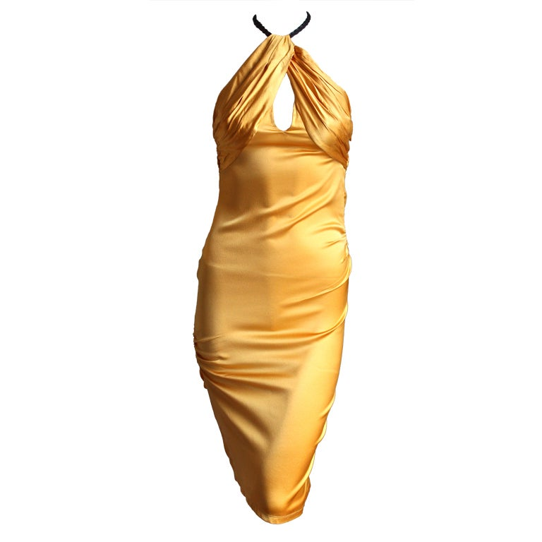TOM FORD for GUCCI silk ruched dress - 2004 1