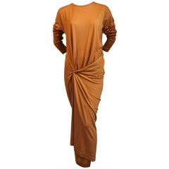 early 1980's ISSEY MIYAKE draped jersey dress thumbnail 1