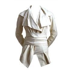 TOM FORD for YVES SAINT LAURENT cream leather jacket 2004