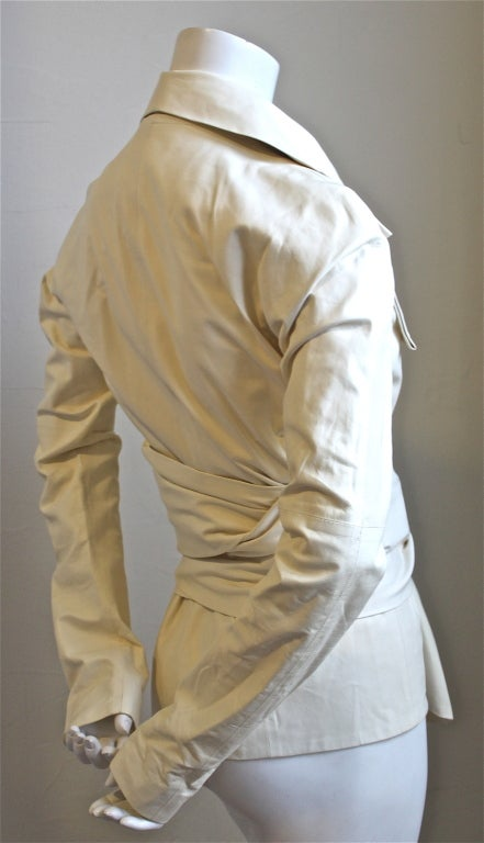 TOM FORD for YVES SAINT LAURENT cream leather jacket 2004 2