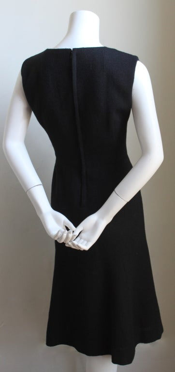 JACQUES HEIM haute couture black wool jacket and dress In Excellent Condition For Sale In Oakland, CA