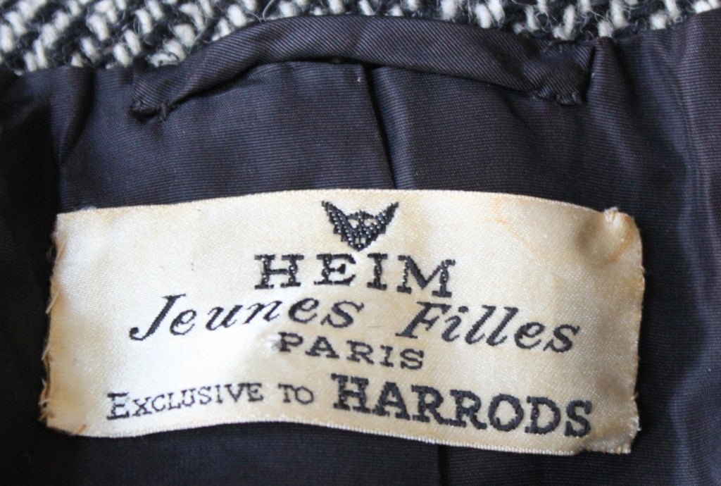 1950's JACQUES HEIM black wool cropped jacket 3