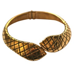 YVES SAINT LAURENT gilt snake collar