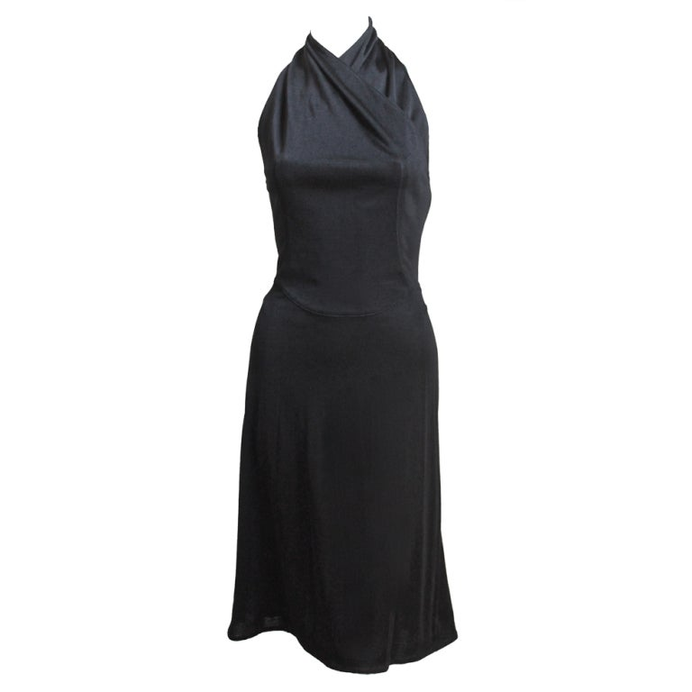 AZZEDINE ALAIA black halter dress with open back