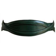 early 1990's AZZEDINE ALAIA green leather belt - 65