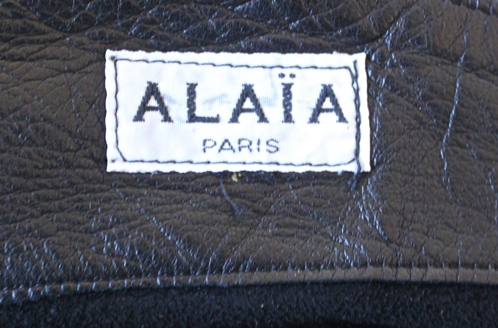 AZZEDINE ALAIA ultra mini leather skirt with buckles 3