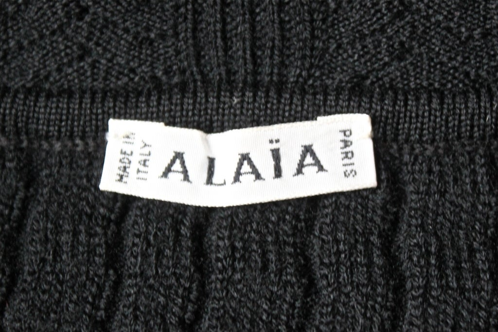 1990's AZZEDINE ALAIA black cropped sweater 3