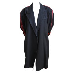 JEAN PAUL GAULTIER for GIBO black jacket with red stripe 1984