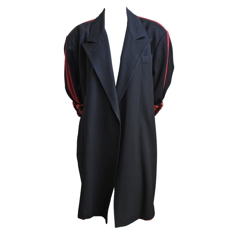 JEAN PAUL GAULTIER for GIBO black jacket with red stripe 1984 1