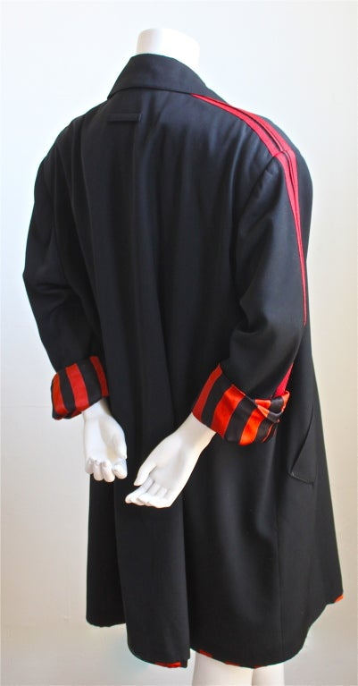 JEAN PAUL GAULTIER for GIBO black jacket with red stripe 1984 2