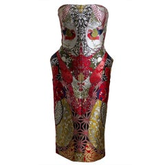 2008 ALEXANDER MCQUEEN elaborately pieced brocade dress