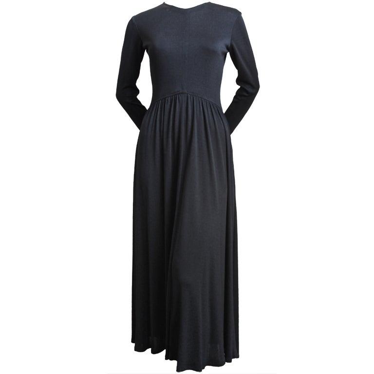 1970's SCOTT BARRIE black jersey dress