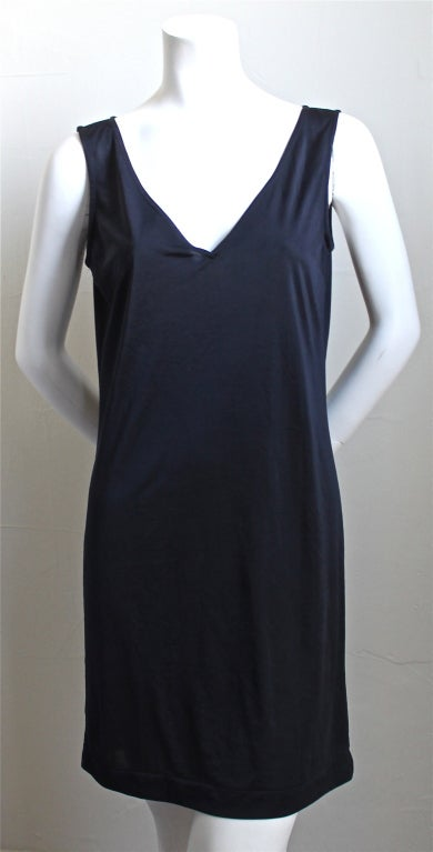 1990 COMME DES GARCONS navy blue embroidered lace dress 4
