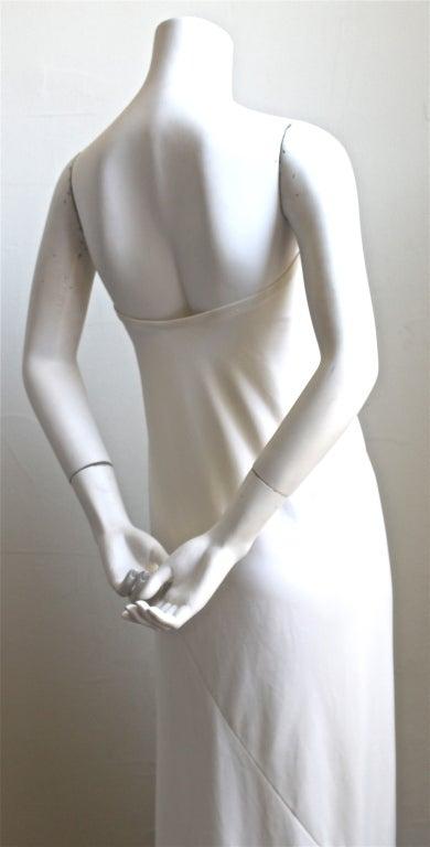 1976  HALSTON off-white strapless spiral cut jersey dress 4