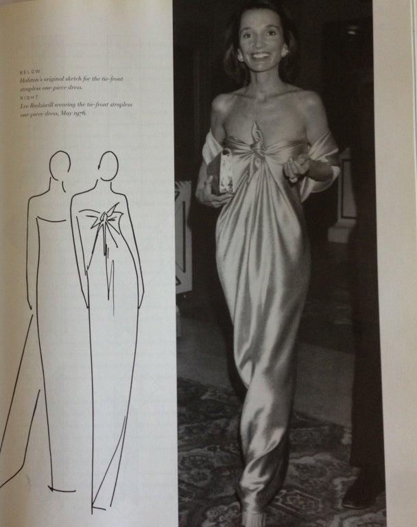 1976  HALSTON off-white strapless spiral cut jersey dress 6