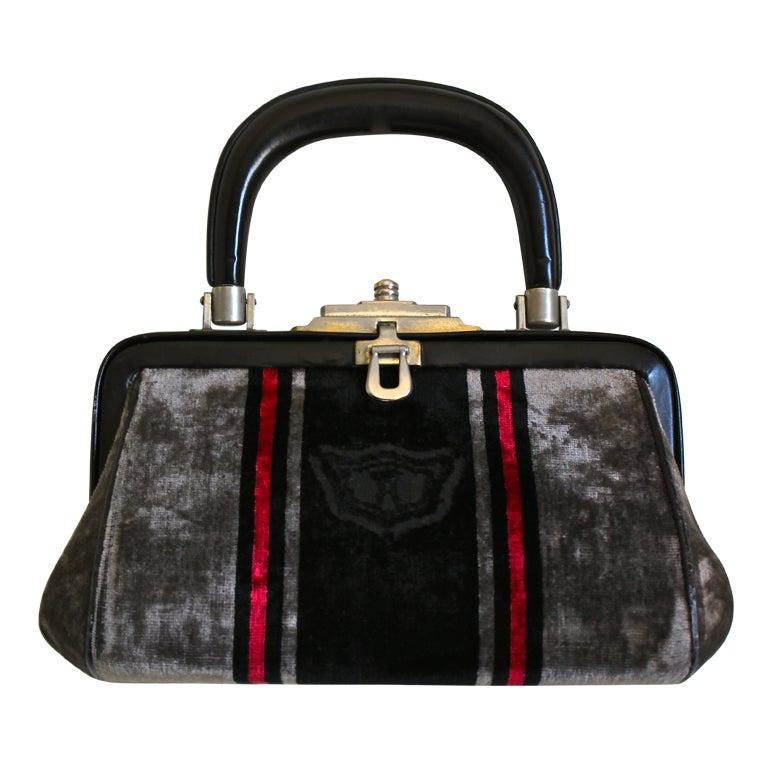 1stdibs Roberta Di Camerino Canvas Leather Frame Bag VypMJA