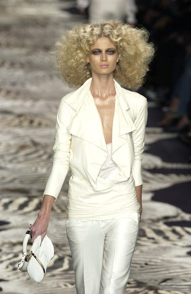 TOM FORD for YVES SAINT LAURENT cream leather jacket 2004 6