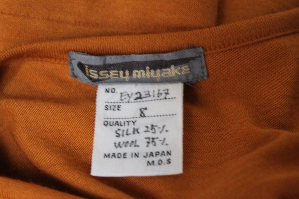 early 1980's ISSEY MIYAKE draped jersey dress image 2